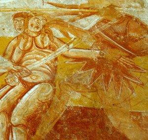 Adam et Eve chassés du Paradis terrestre( détail)