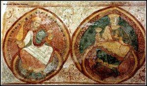 St Junien (Vieillards dans médaillons)